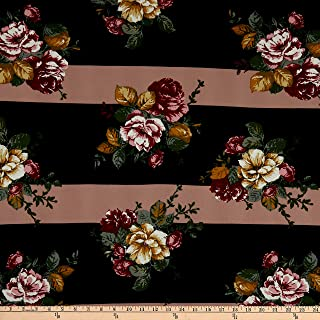 double brushed poly floral fabric