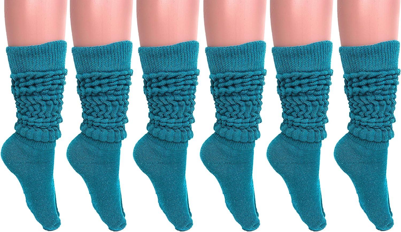 Slouch Socks Women and Men Extra Tall Heavy Cotton Socks Size 9 to 11 (Capri, 6)