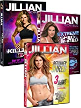 3 Pack Jillian Michaels Fitness DVD's Beginner Shred, Extreme Shed And Shred, Killer Cardio