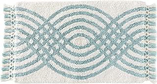 SKL Home by Saturday Knight Ltd. Fringed Waves Rug, Aqua