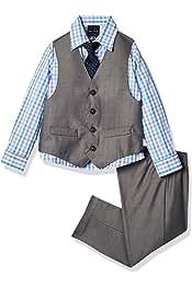 ست جلیقه 4 تکه پسران Nautica Boys با پیراهن لباس ، کراوات کراوات ، جلیقه و شلوار