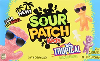 Sour Patch Kids Tropical Soft & Chewy Gummy Candy - Movie Theater Box, 3.5 Ounce (Pack of 12)