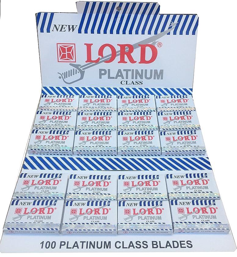 賄賂びん亡命Lord Platinum 両刃替刃 100枚入り(5枚入り20 個セット)【並行輸入品】