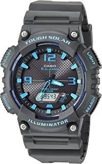 Casio Men`s Tough Solar Stainless Steel Quartz Watch with Resin Strap, Black, 27.5 (Model: AQ-S810W-8A2VCF)