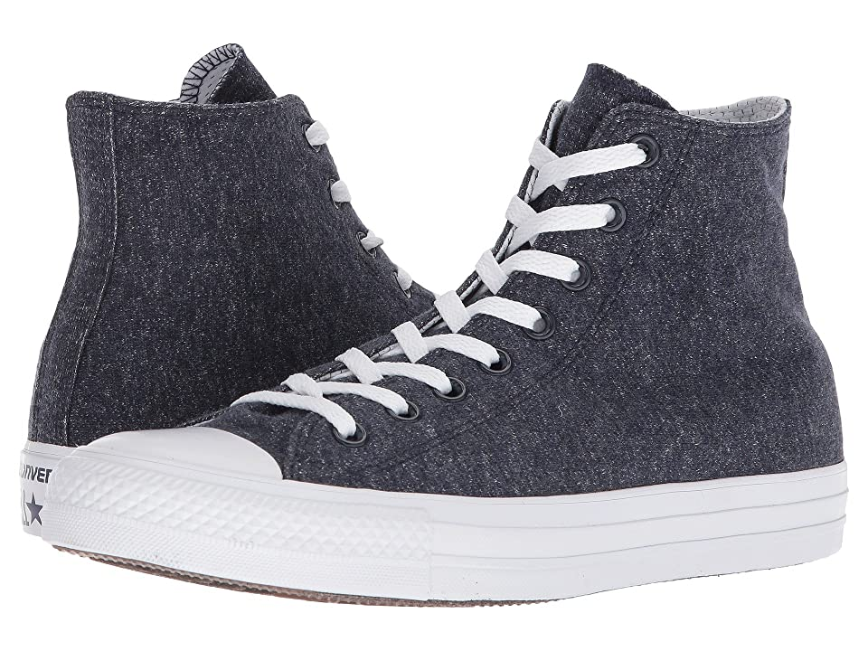 Converse Chuck Taylor(r) All Star(r) Essential Terry Hi (Obsidian/White/White) Shoes