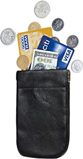 BSWolf Leather Squeeze Coin Purse Pouch Change Purse Card Holder For Men & Women