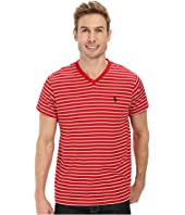 U.S. POLO ASSN. - Thin Stripe V-Neck T-Shirt