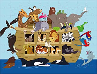 Floor Puzzles for Kids - 100-Piece Giant Floor Puzzle, Noah's Ark Jumbo Jigsaw Puzzles for Toddlers Preschool, Toy Puzzles for Kids Ages 3-5, 2 x 3 Feet