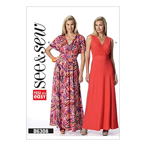 f0bdec78a3203 Butterick Pattern 6308 A Misses Dress Sewing Pattern, Sizes 8-24