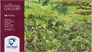 The National Gallery Van Gogh Oil Pastel, Round Full Stick, 12-Piece Set, Long Grass with Butterflies