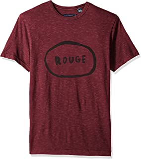 French Connection Men's Short Sleeve Crew Neck Regular Fit Graphic T-Shirt,