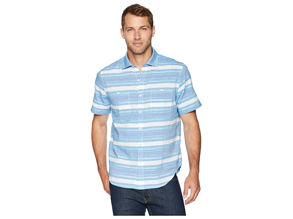 Tommy Bahama - Tommy Bahama Breakwater Stripe Camp Shirt