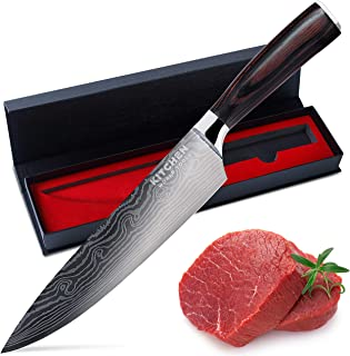 Chef Knife – Sharp Kitchen Knife – Premium Stainless Steel Knife – Chopping Knife – Cooking Knife with Ergonomic Handle – ...