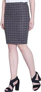 FRANCLO® Women's Light Grey Check Skirt