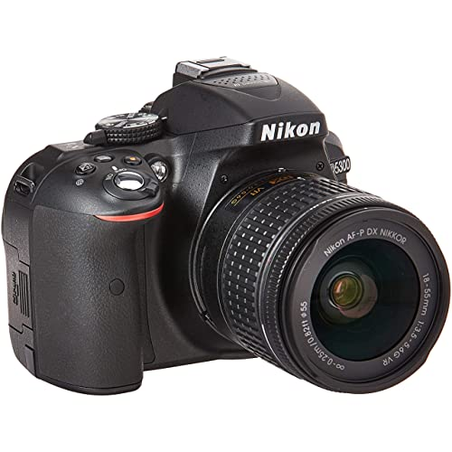 Nikon D5300 24.2MP Digital SLR Camera(Black) with AF-P 18-55 and AF-P DX NIKKOR 70-300mm f/4.5-6.3G VR Kit, Free Camera Bag and 16GB Memory Card