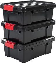 Iris Set Van 3 Opbergdozen Power Box, Sk-130, Met Kliksluitingen, Plastic, Zwart, 12,5 L, 46 X 29,7 X 16 Cm