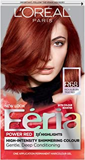 L'Oreal Paris Feria Multi-Faceted Shimmering Permanent Hair Color, R68 Ruby Rush..