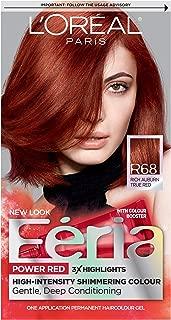L'Oreal Paris Feria Multi-Faceted Shimmering Permanent Hair Color, R68 Ruby Rush (Rich Auburn True Red), 1 Count kit Hair Dye