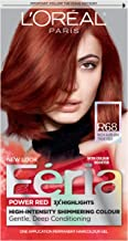 L'Oreal Paris Feria Multi-Faceted Shimmering Permanent Hair Color, R68 Ruby Rush (Rich Auburn True Red), 1 Count kit Hair Dye