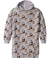 Moschino Kids - Hooded Dress w/ Music Toy Bear Print (Big Kids)