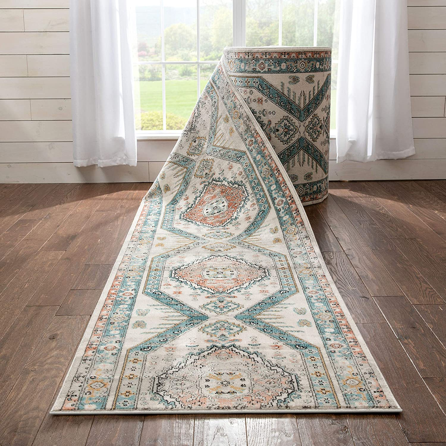 Well Woven Custom Size Runner - Length Ranking TOP15 Blue Attention brand Jolena Choose Your