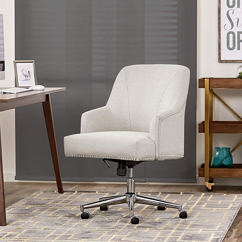Serta Leighton Home Office Chair Cozy Ivory