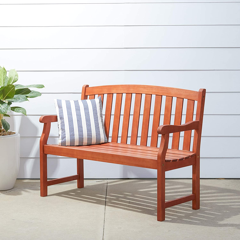 VIFAH V208E Mail order Harley Coastal Eucalyptus specialty shop 2 for Wooden Seater Bench