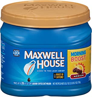 Maxwell House Morning Boost Ground Coffee (26.7 oz Canister)