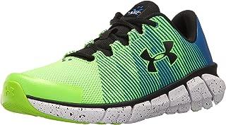 Under Armour Men's Grade School X Level Scramjet Sneaker, Hyper Green (389)/Ultra Blue, 4.5