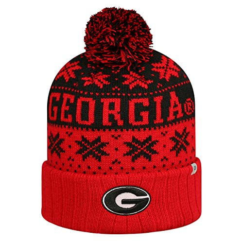 Top of the World Georgia Bulldogs Subarctic Cuffed Pom Knit Beanie Hat Cap 88b91d5d7a7