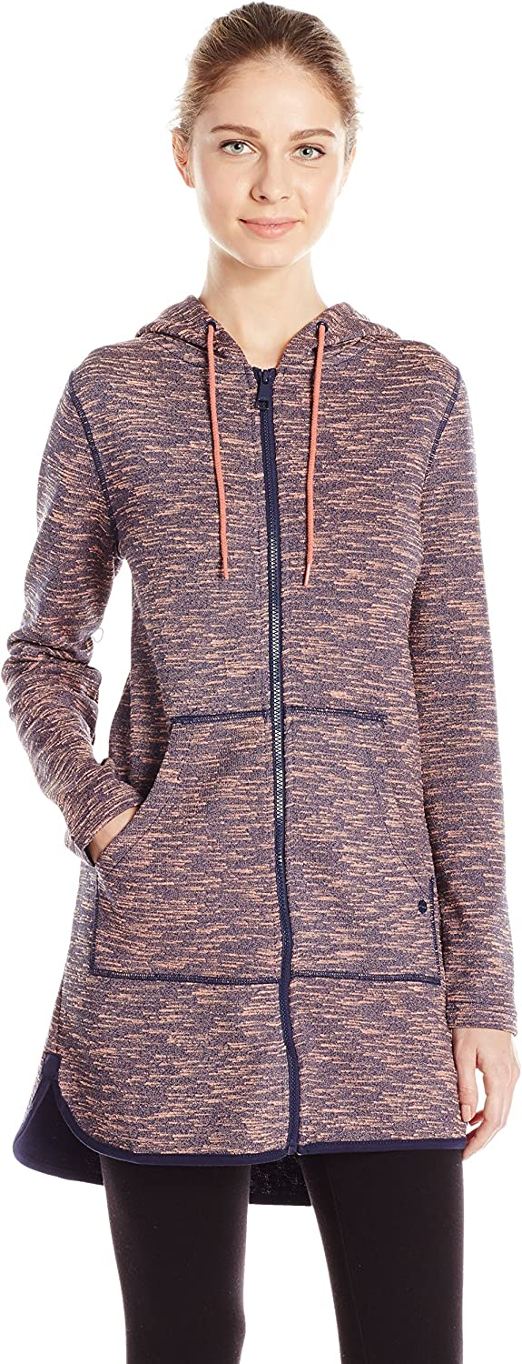 Bench Womens Long Marled Hoodie Warm Up or Track Jacket