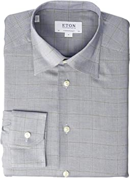 Contemporary Fit Windowpane Flanella Shirt