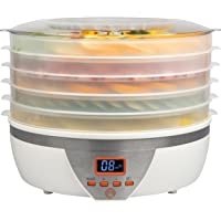 MasterChef Food Dehydrator w 5 Trays and Digital Temperature Controls with Free Recipe Guide Overheating