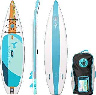 Body Glove Alena Inflatable Stand Up Paddle Board, Blue/Wood, 10'6