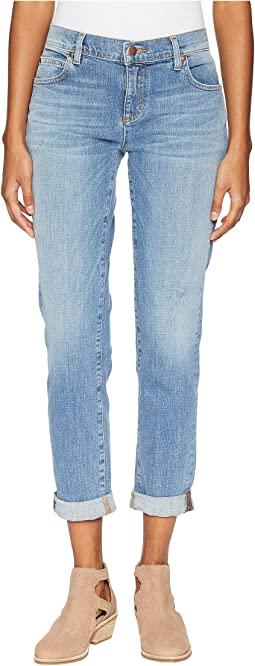 Organic Cotton Boyfriend Jeans in Abraded Sky Blue