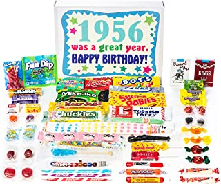 Woodstock Candy ~ 1956 64th Birthday Gift Box of Nostalgic Retro Candy from Childhood for 64 Year Old Man or Woman Born 1956