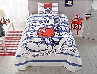 TAC Disney Mickey Mouse Single/Twin 100% Cotton Bedding Bedspread/Coverlet Set 3 Pcs