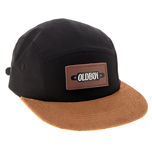 6363a03e1fc Oldboy Five Panel Cotton Flat Bill Cap Hat for Skaters and Longboarders