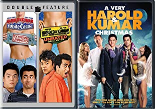 Holiday 3-Movie Comedy set A Very Harold & Kumar Christmas + Go to White Castle (Extreme Unrated), Harold & Kumar Escape from Guatanamo Bay (Unrated Special Edition) Triple Movie Set
