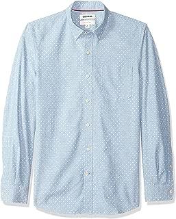 Amazon Brand - Goodthreads Men's Slim-Fit Long-Sleeve Polka Dot Homespun Chambray Shirt
