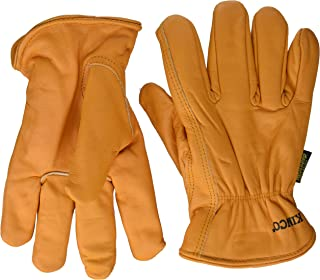 Getting Fit 35117008175 Kinco 0 Lined Grain Buffalo Leather Ranch and Work Glove, Single Pair, Medium