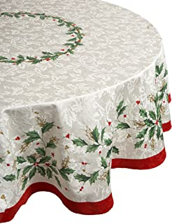 lenox oval christmas tablecloth