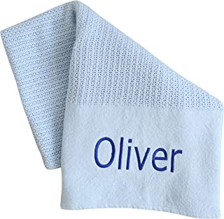 Personalized Baby Blanket for Boys — Soft Plush Snuggly Custom Blankets for Toddler & Newborn — Blue