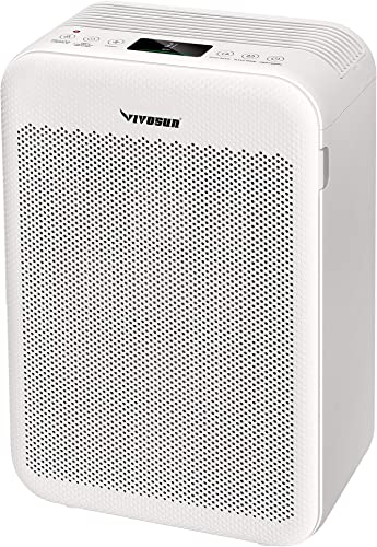 discount VIVOSUN online sale 5-in-1H13 True HEPA Filter for high quality Large Rooms up to 700 Sqft with PM2.5 Indicator, White sale