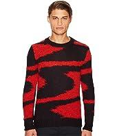 Space Dye Intarsia Sweater