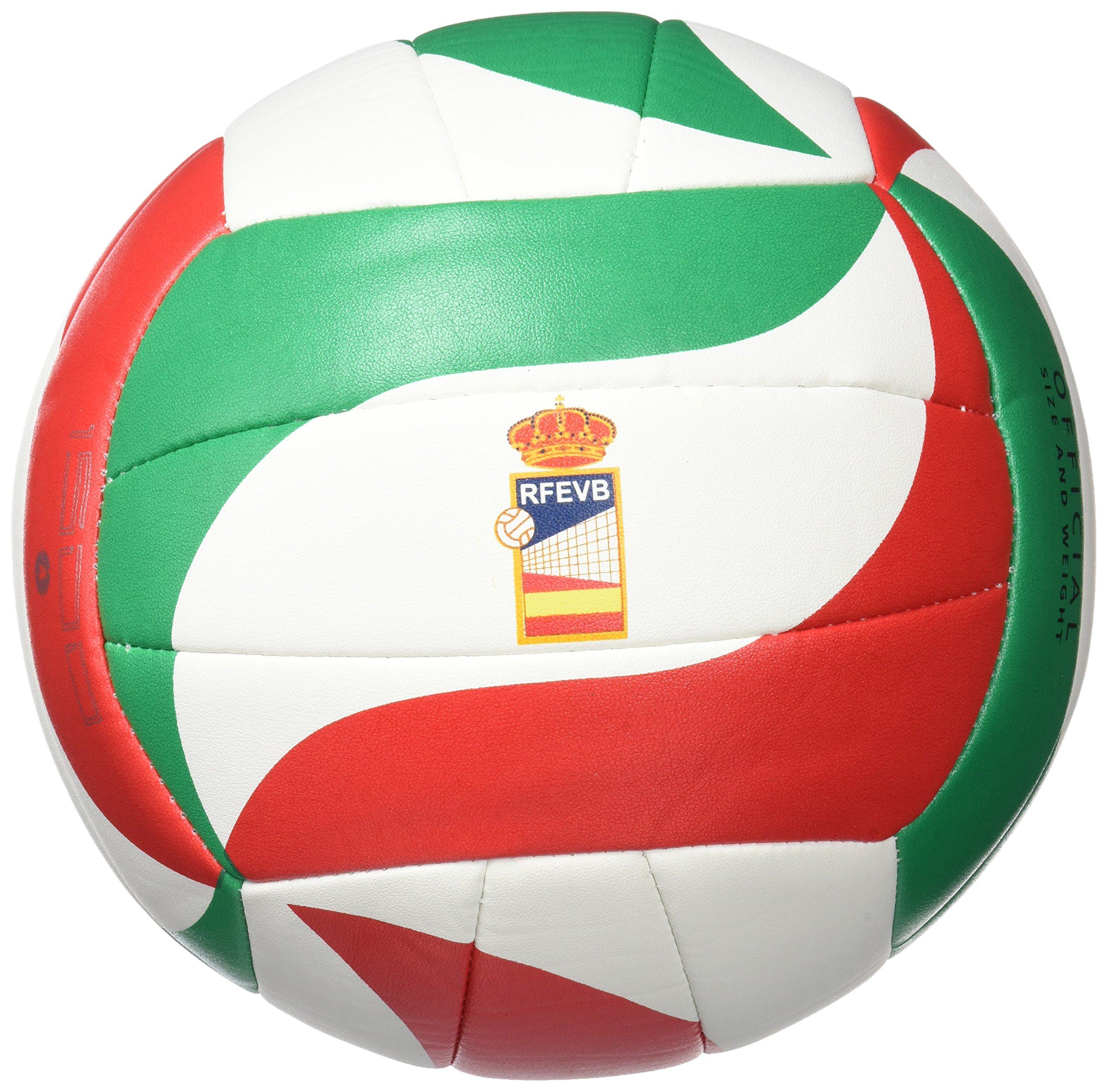 Molten VM1500 - Balón de Voleibol Intanfil, Blanco, Rojo y Verde ...