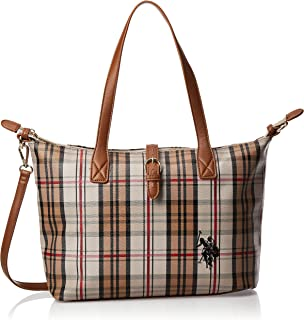 US Polo Womens Patterson Checked Medium Shopping