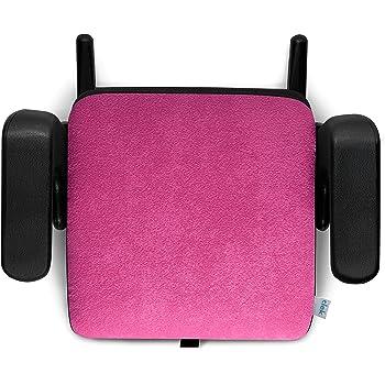 Clek Olli Backless Booster Car Seat with Rigid Latch, Flamingo