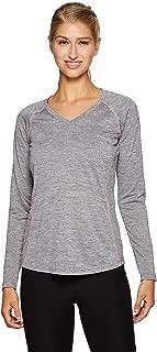 Active Women's Long Sleeve Super Soft Space Dye Workout Running Tee Shirt
