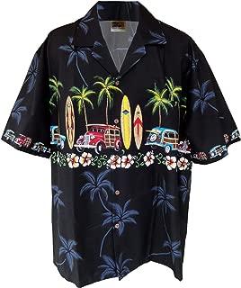 A WinnieFashion Hawaiian (100% Cotton) Woody Aloha Shirts (USA)
